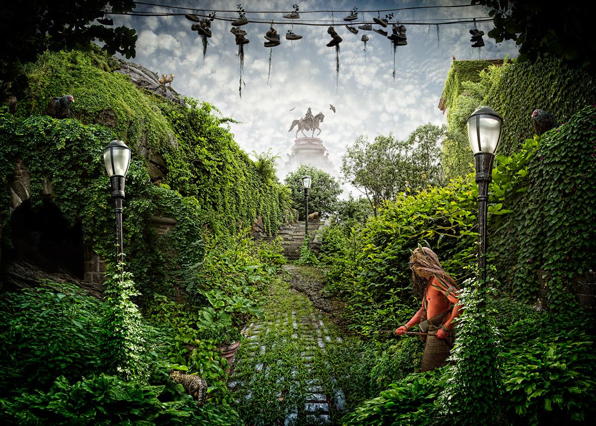 Nick Pedersen  Ultima future jungle  environmentalism  post-apocalyptic tribal utopia animals Nature inspire art photoshop photomanipulation photoillustration