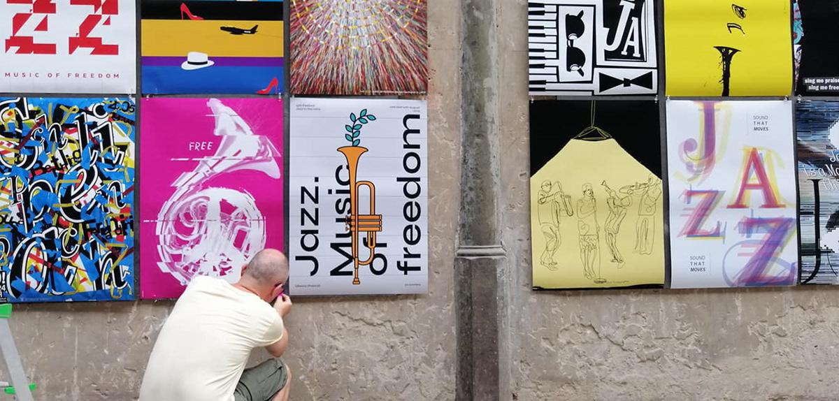Jazz W Ruinach Francesco Mazzenga poster posterdesign Exhibition  jazz FREEJAZZ freedom