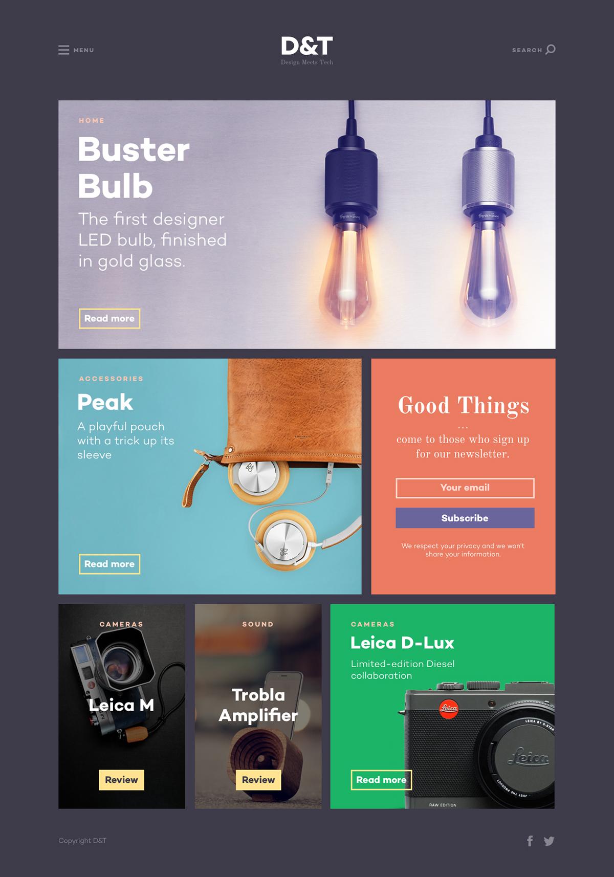 design tech magazine template on behance