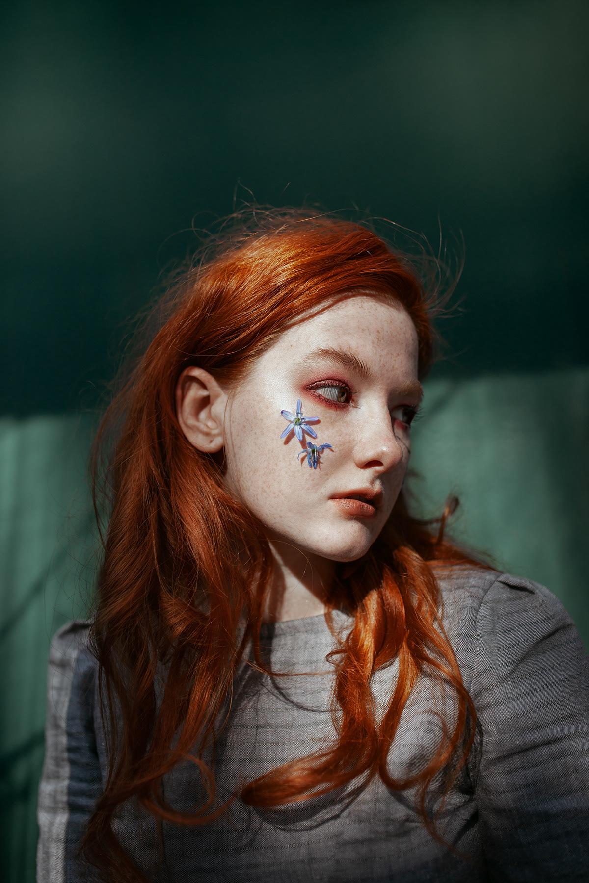 art Fashion  ginger girls model modeling Natural Light portrait retouch sony alpha