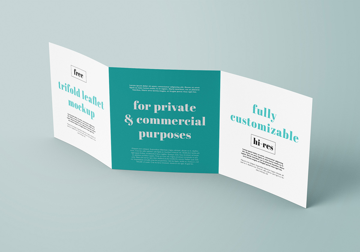 free square trifold leaflet mockup on behance
