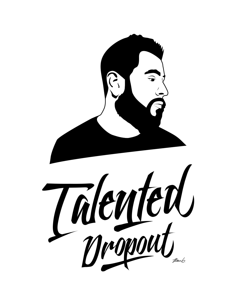 talented dropout logo design on behance