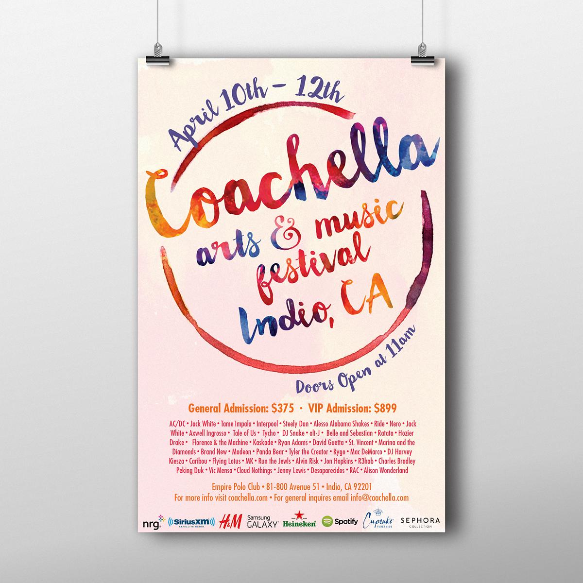 Coachella Arts & Music Festival Poster Design On Behance