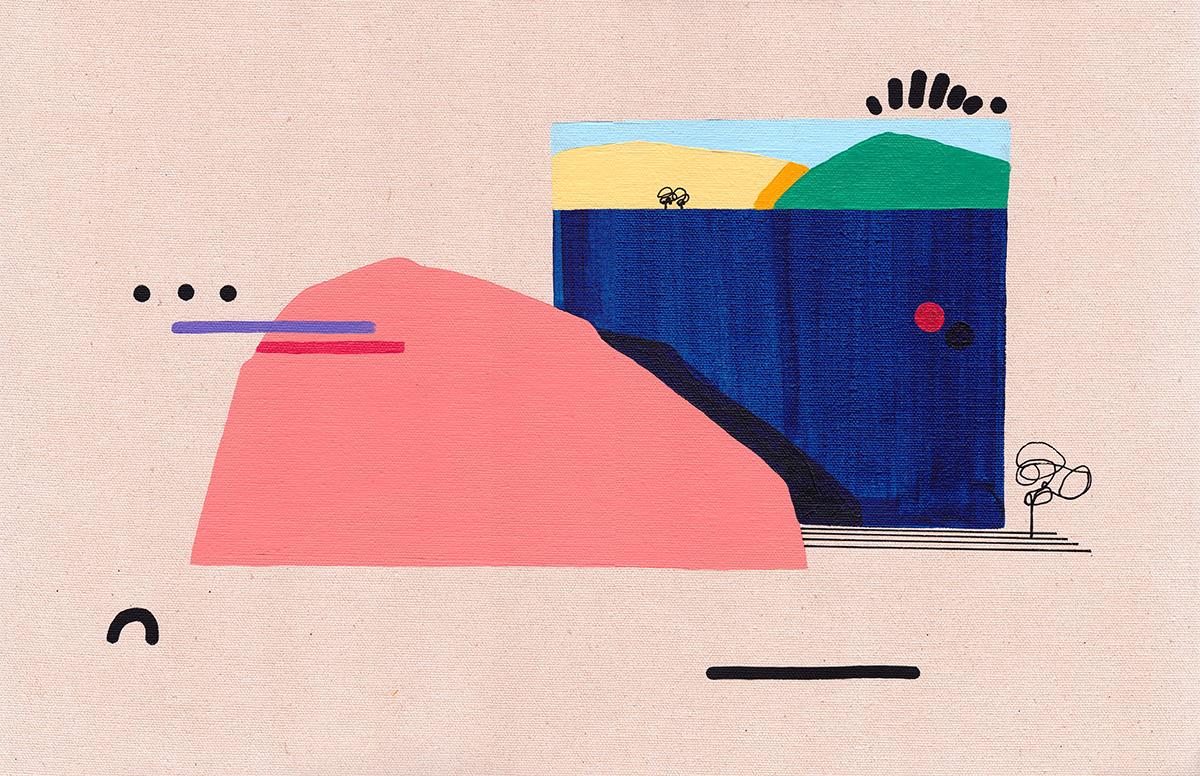 color Contemprorary design fine art minimal Minimalism painting   surreal surrealism