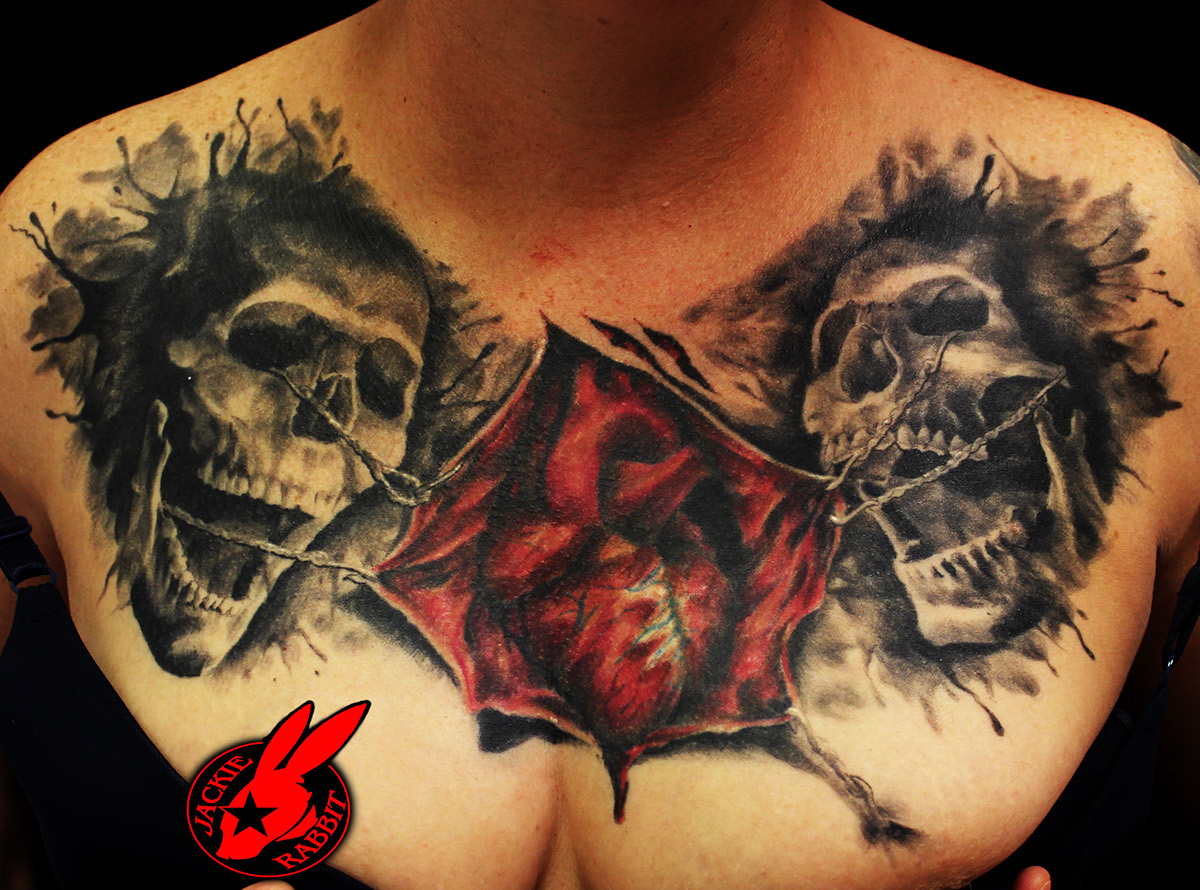 Realistic Skull Tattoos by Jackie Rabbit on Behance