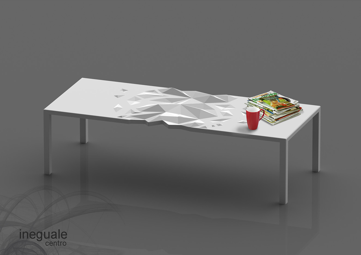 design product table 3D Solidworks Interior