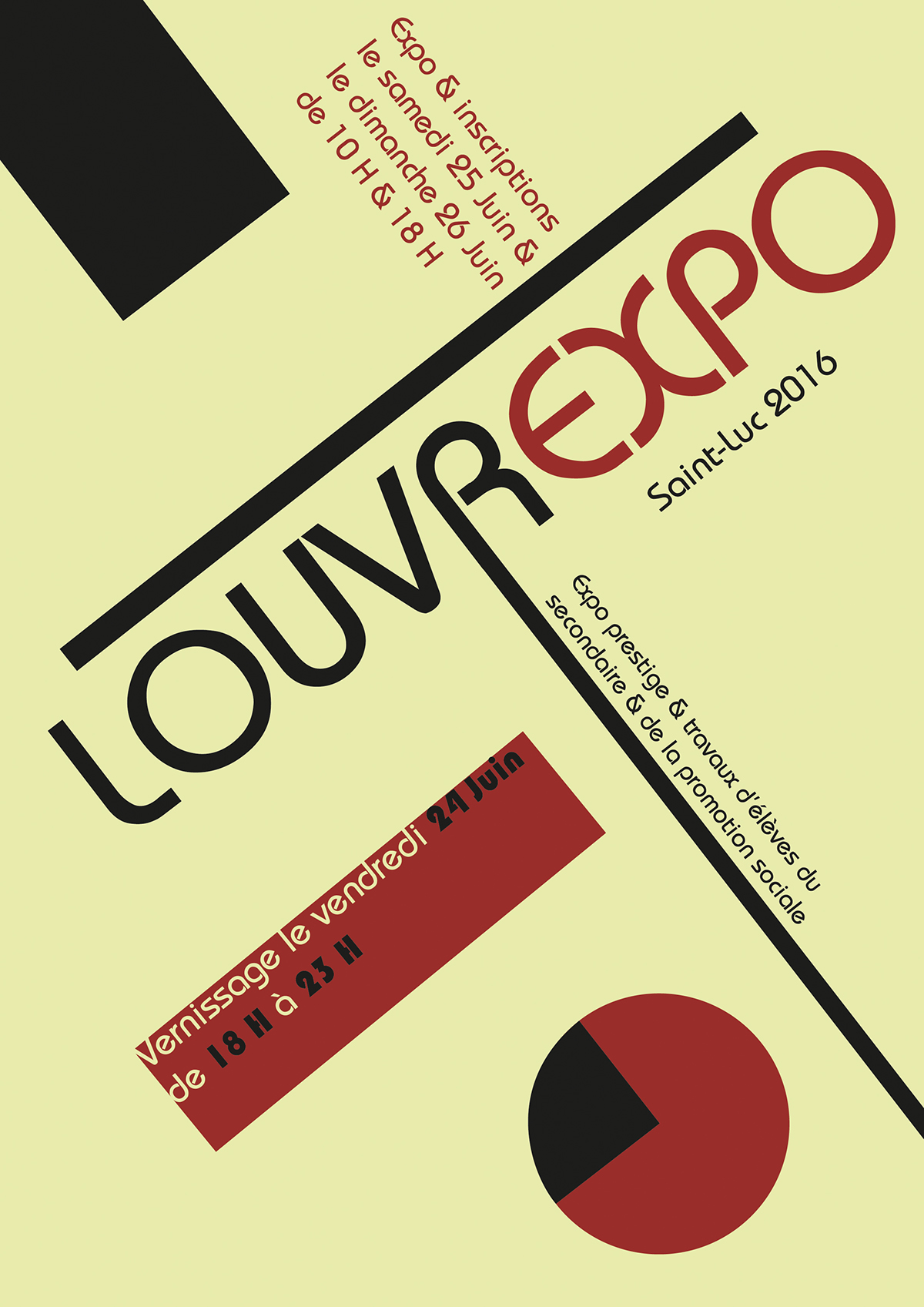 bauhaus | louvrexpo poster on behance