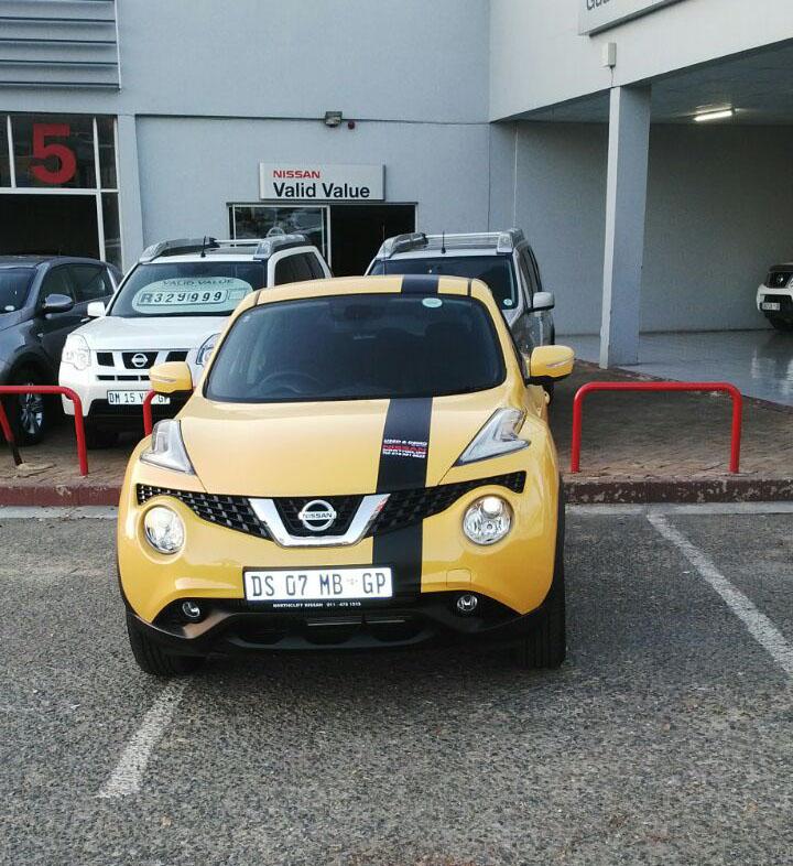 Jason Swart Creative J Nissan Juke Yellow Demo Branding