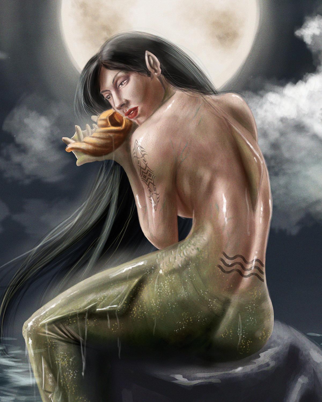 digital painting ILLUSTRATION  mermaid mermay sereia