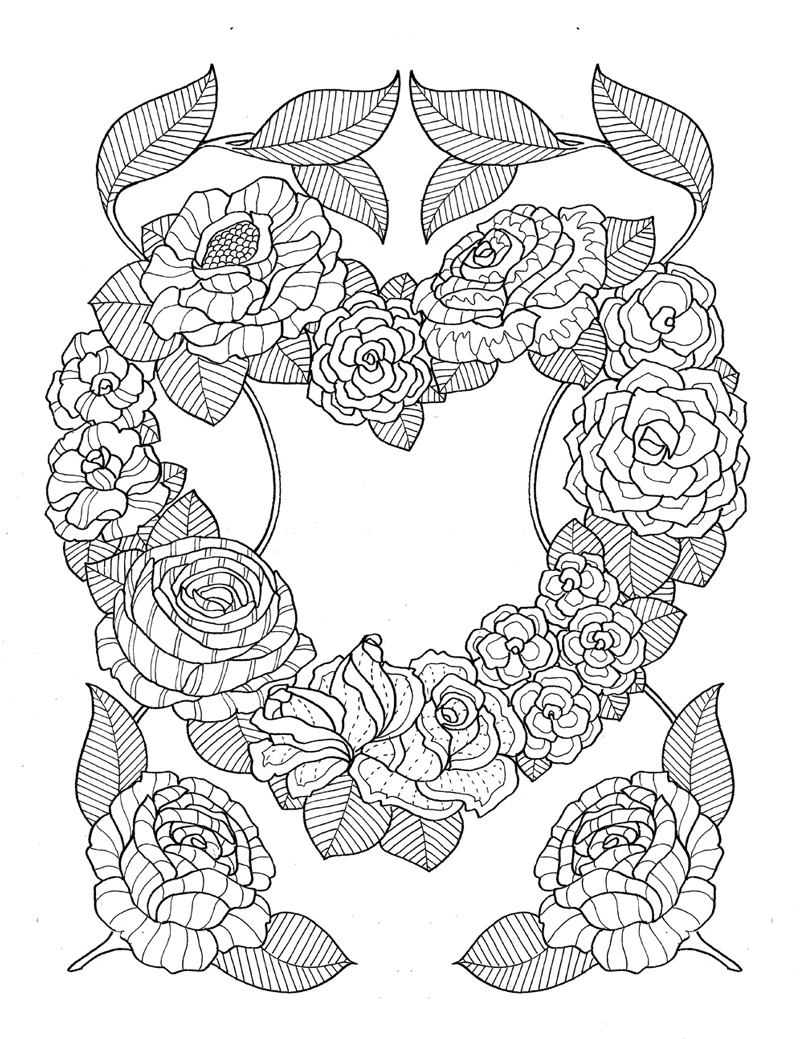 quot pour voir la vie en rose quot coloring
