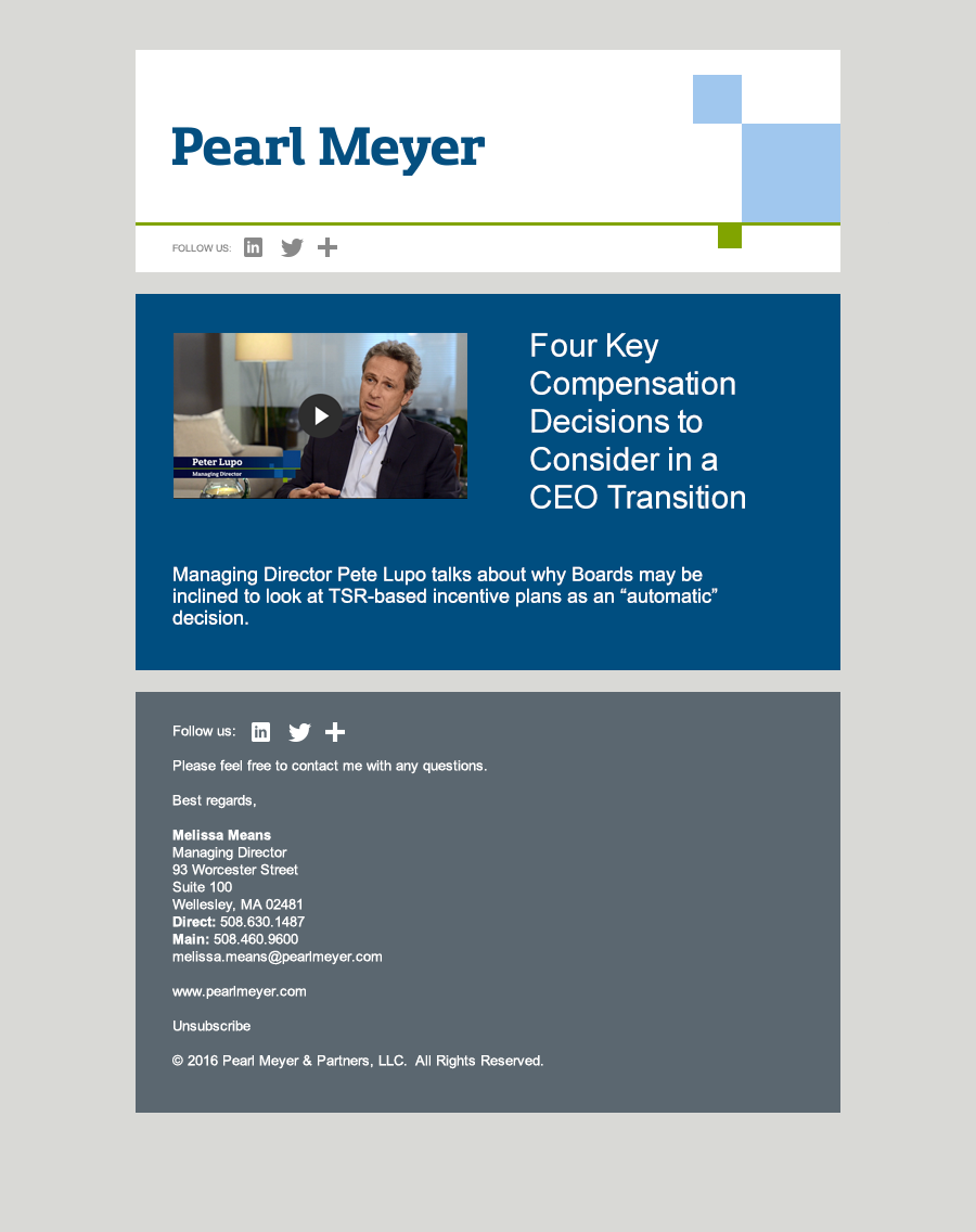 Pearl Meyer Email Templates On Behance