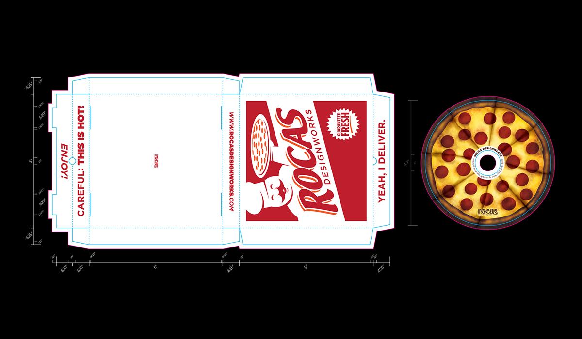 Pizza box cd QR Code Promotional