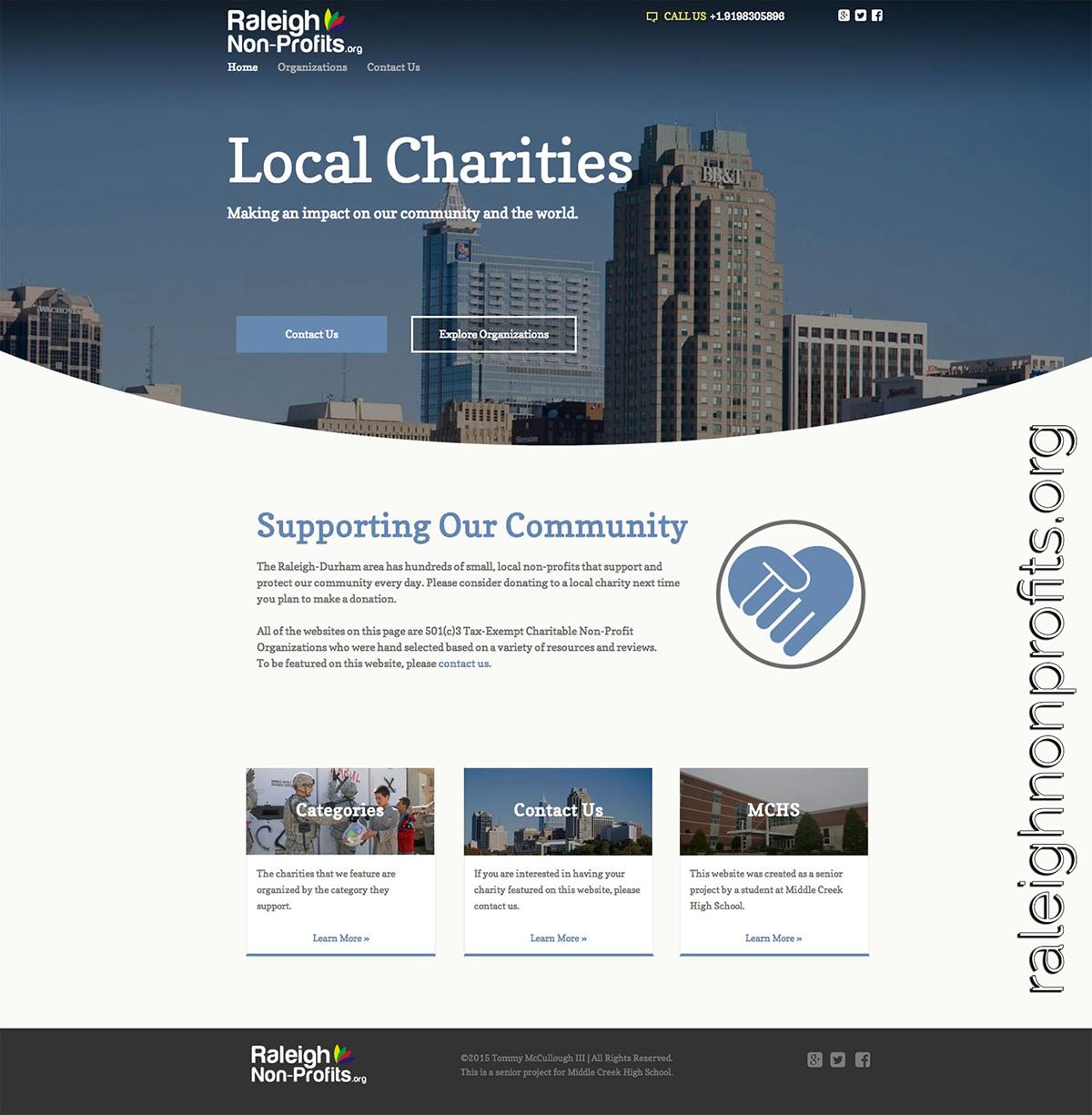Raleigh Non-Profits Website & Logo