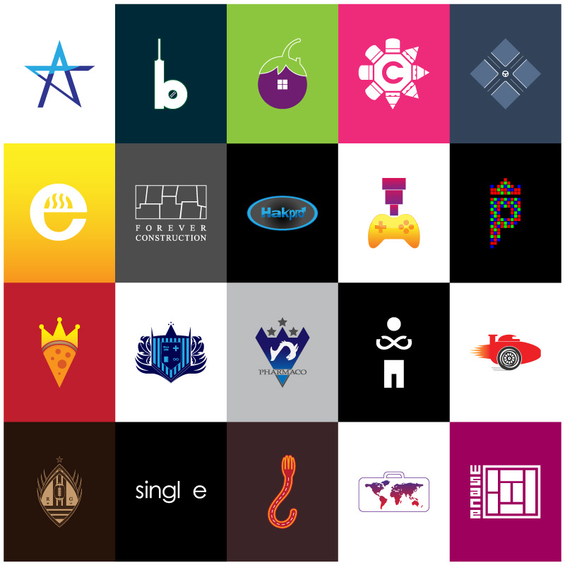 logo logos monogram emblemmark creative sports Cricket brinjal pencil Driving cooking ecooking construction Pizza