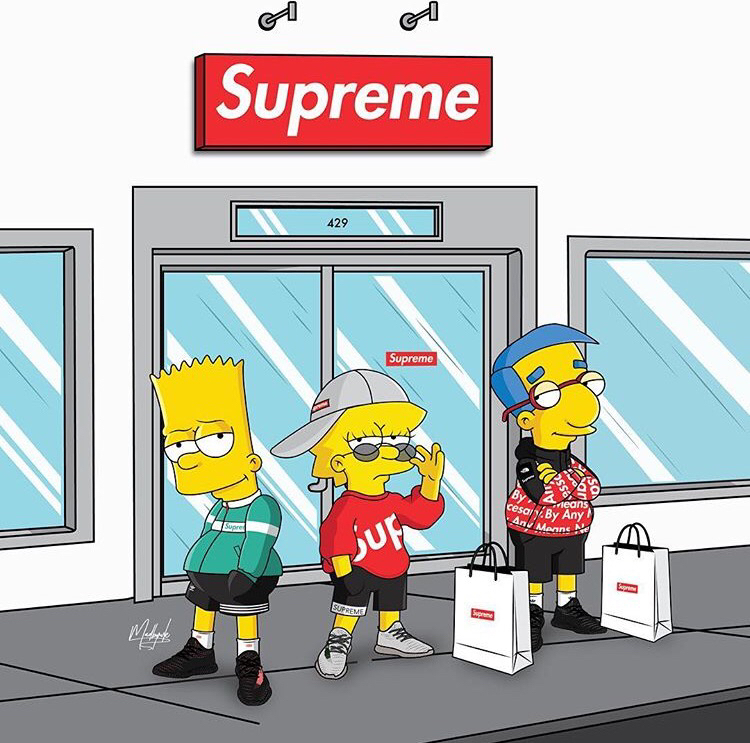 Supreme X Simpson On Behance