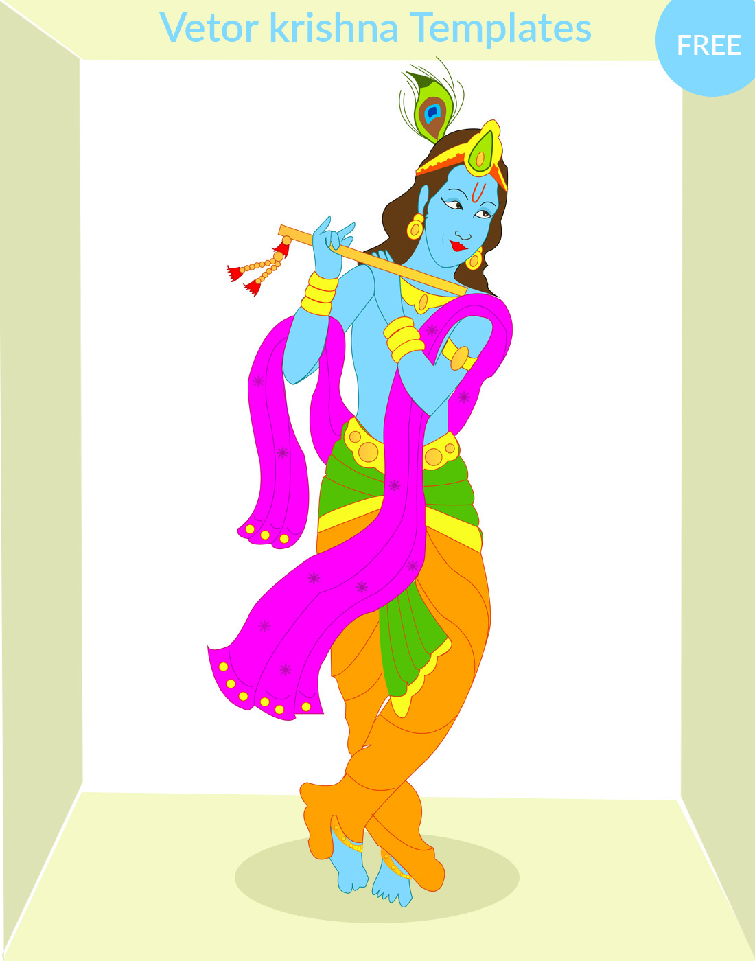 Krishna vector download free download on Behance