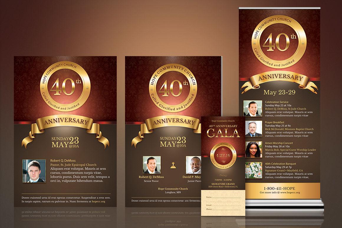 Church Anniversary Template Kit On Behance