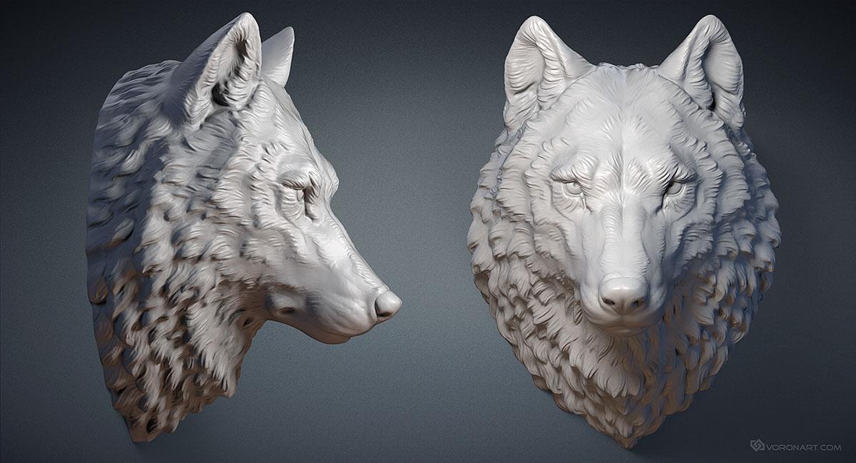Wolf Head 3d Model On Behance