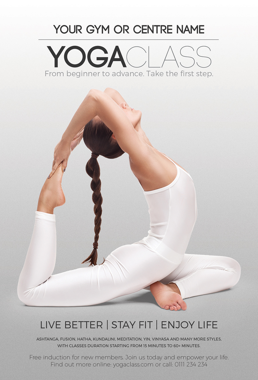 Yoga Class Flyer Instagram Facebook Templates On Behance