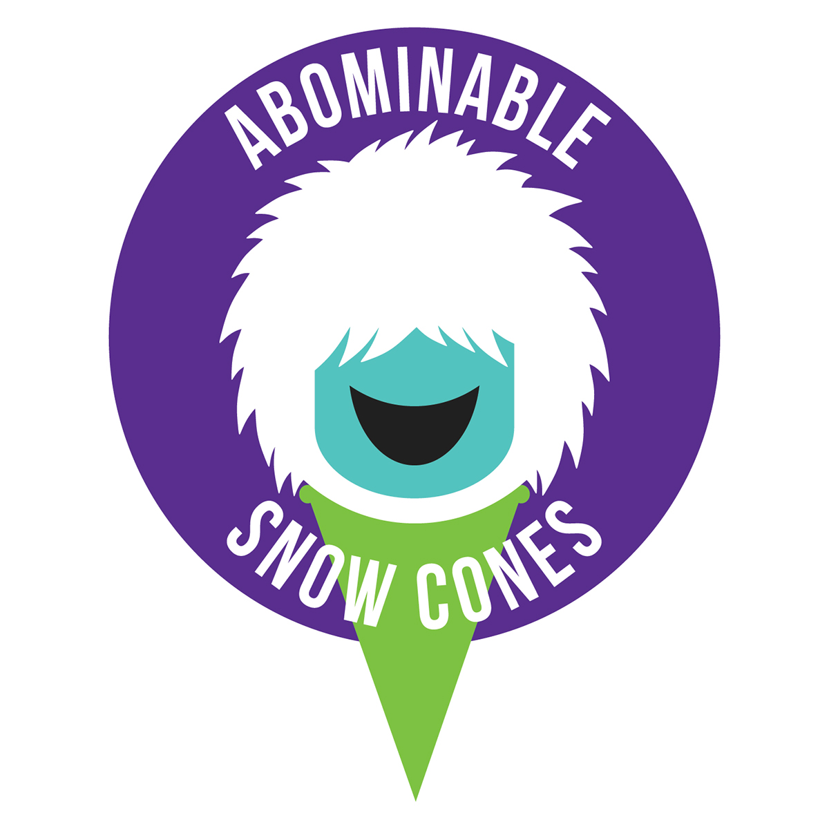 abominable snow cones logo design on behance