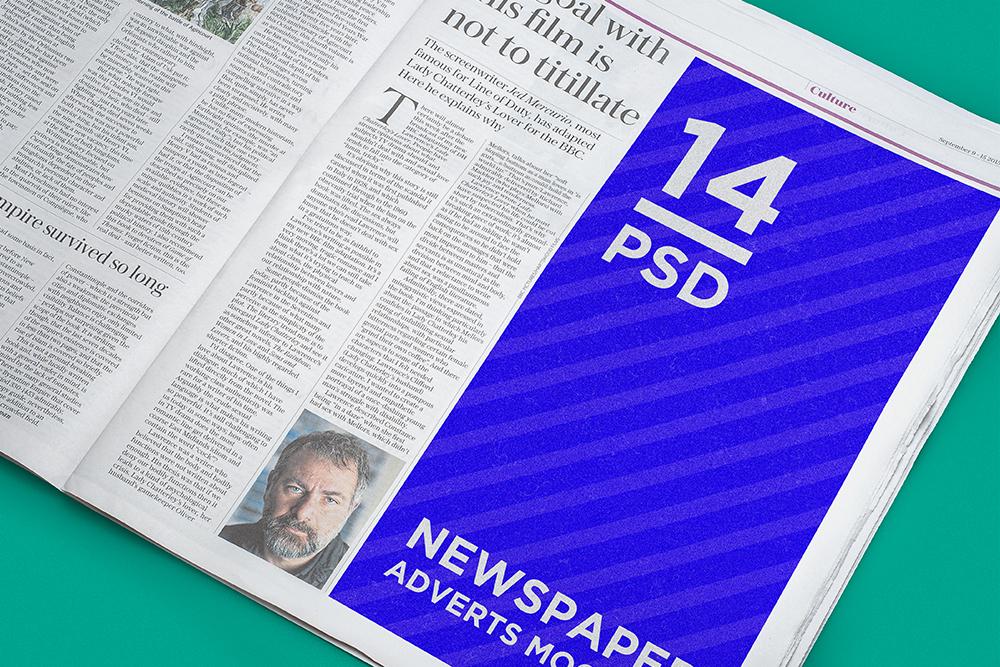 ads advert download free mockup  free psd free freebie Mockup mock-up Newspaper advert newspaper photoshop press psd template