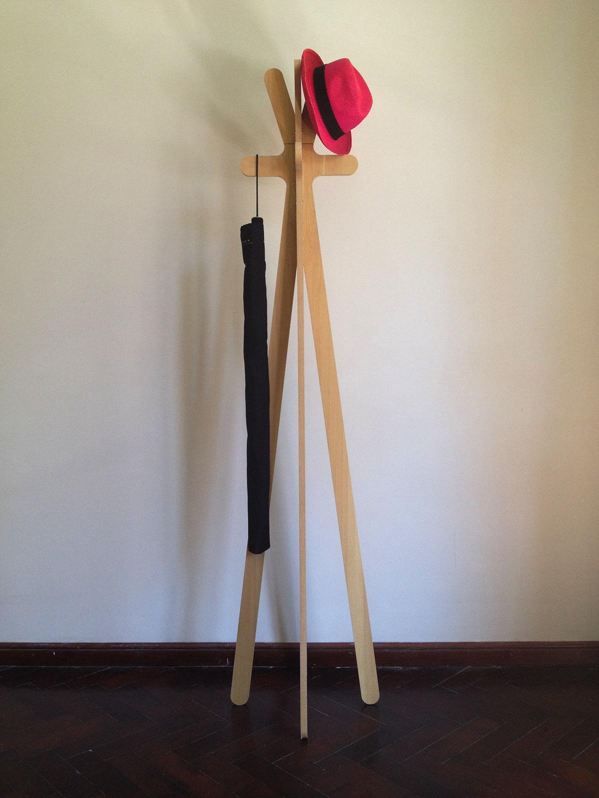 Chopstick coat hanger on behance for Coat hanger art projects