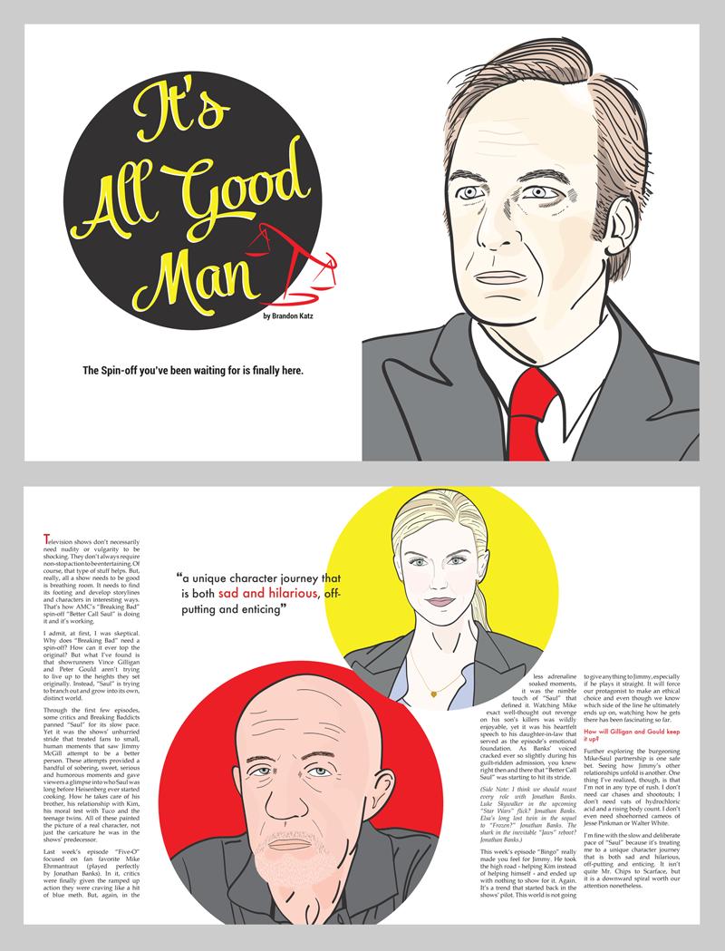 better call saul magazine article Character illustrations magazine