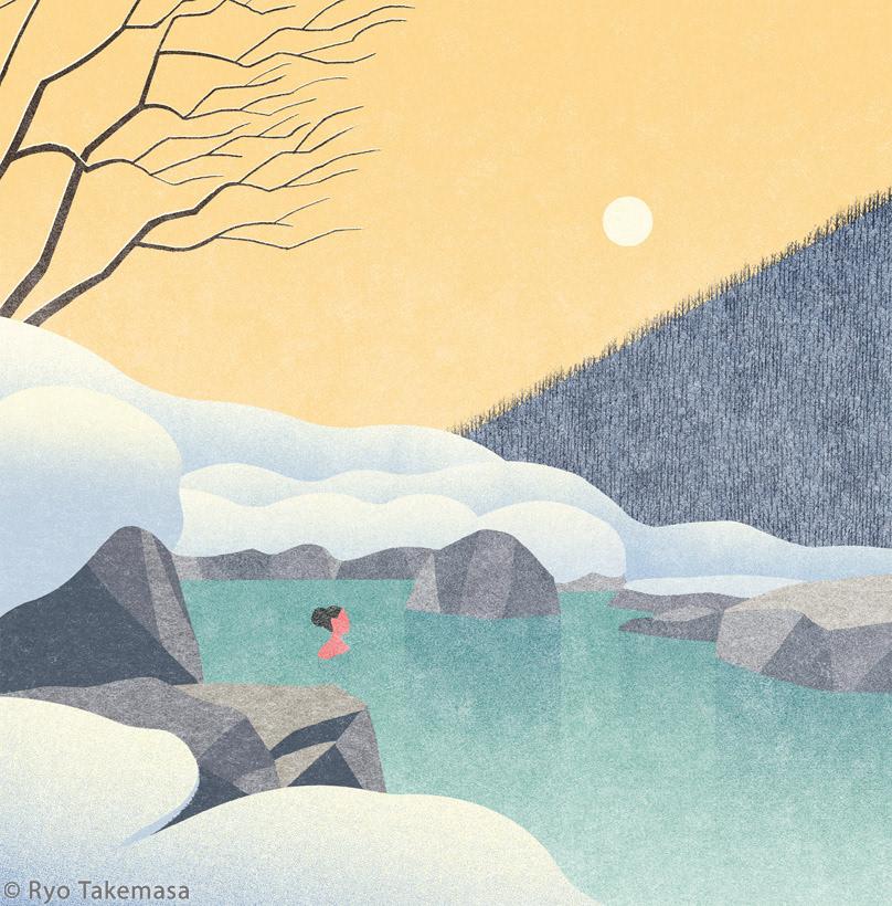 hot spring japan Landscape Nature open-air bath outdoor bath snow winter