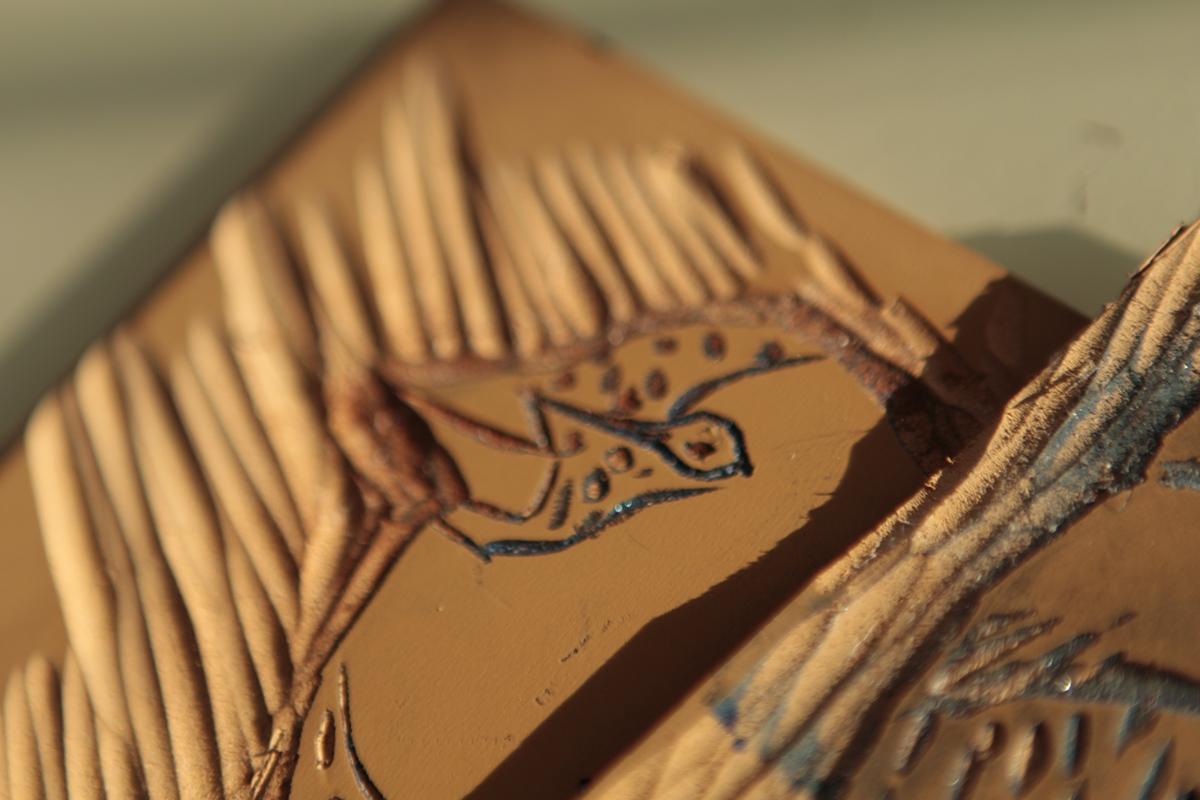 Real personal cards colombia linoleum print Tarjetas
