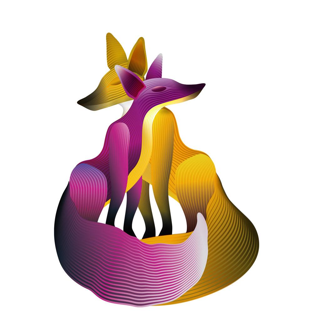 augmented reality AR ILLUSTRATION  opera FOX digital Experience story animals animation