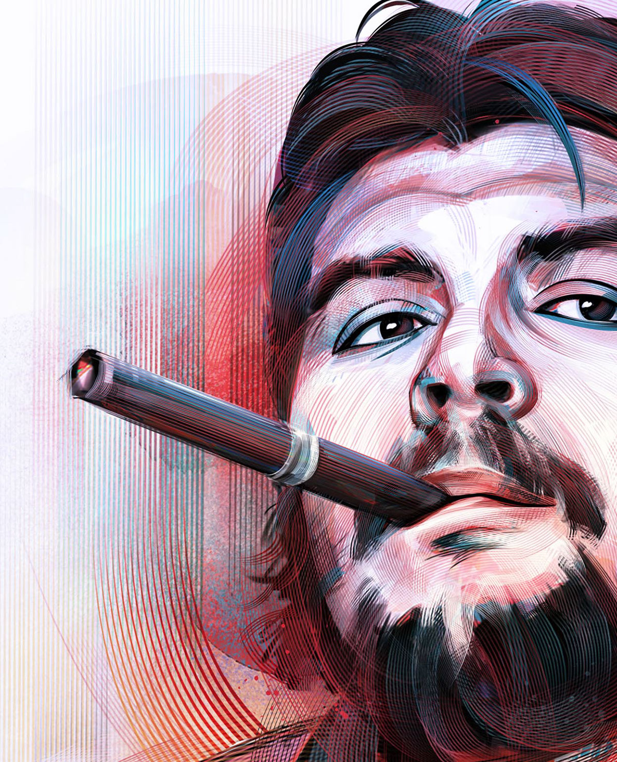Che Guevara A Digital Revolution In Photoshop On Behance