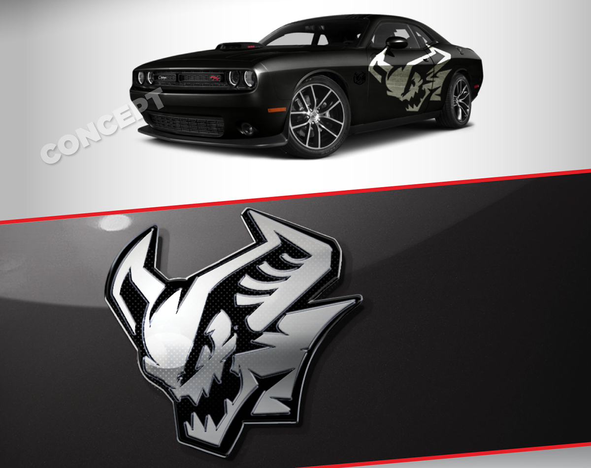Dodge Charger Demon >> Demon Challenger SRT® Demon - Concept Logo on Pantone ...