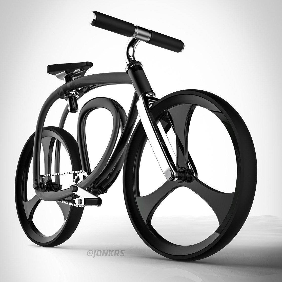 Bike,Bicycle,3d design,concept,loop the loop