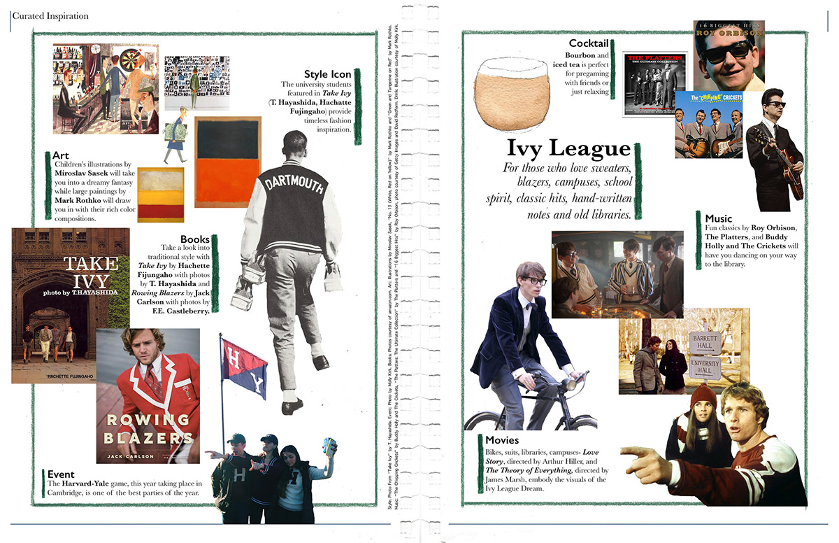 Oxfords Magazine Curated Inspiration Page Layout On Behance
