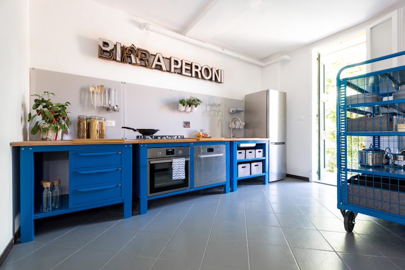 Very simple kitchen blue on behance for Very simple home design