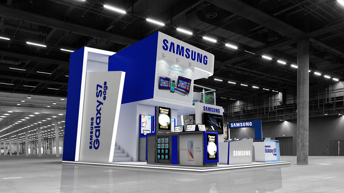 Samsung Exhibition Stand Design : Samsung exhibition stand design on behance