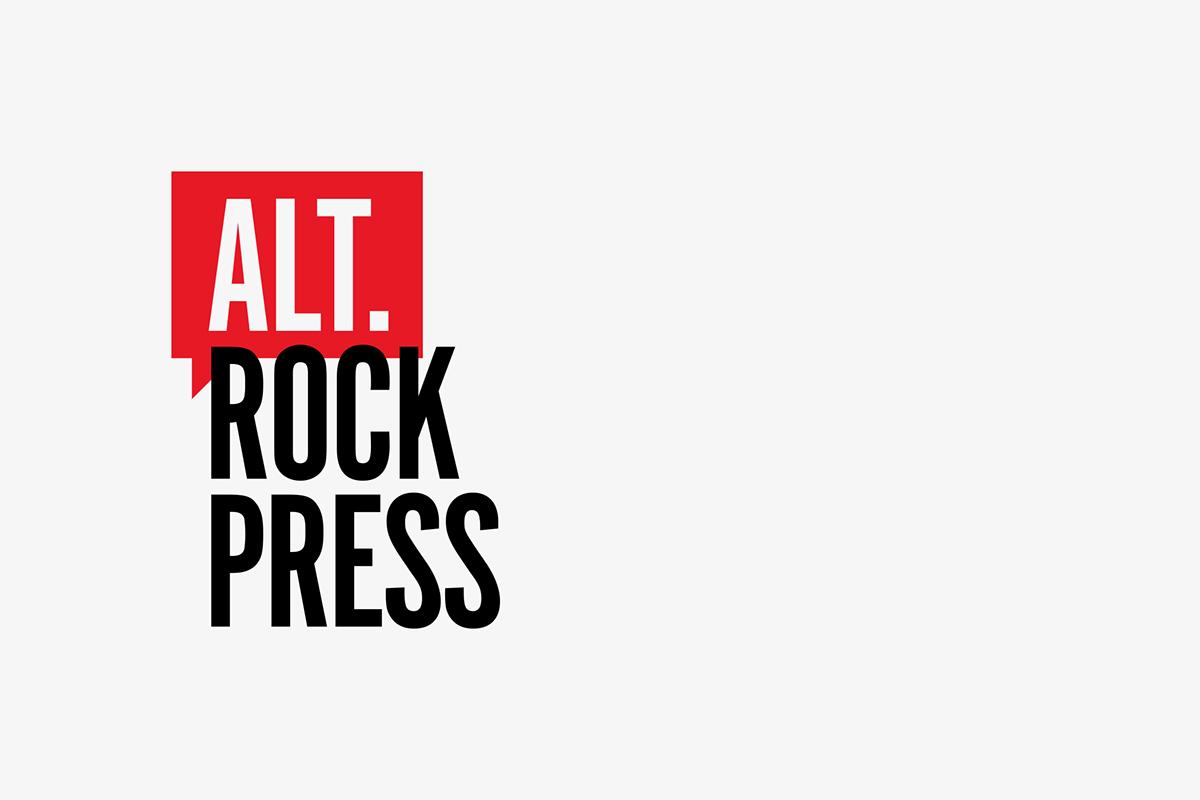 alternative rock press branding website redesign on behance rh behance net  alternative press logo transparent