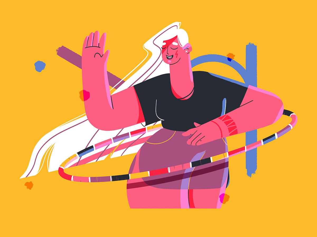 ILLUSTRATION  characterdesign photoshop colorful personal simple design geometric