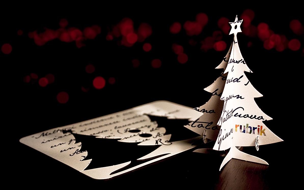 Tree  Christmas greeting cards glow Glows