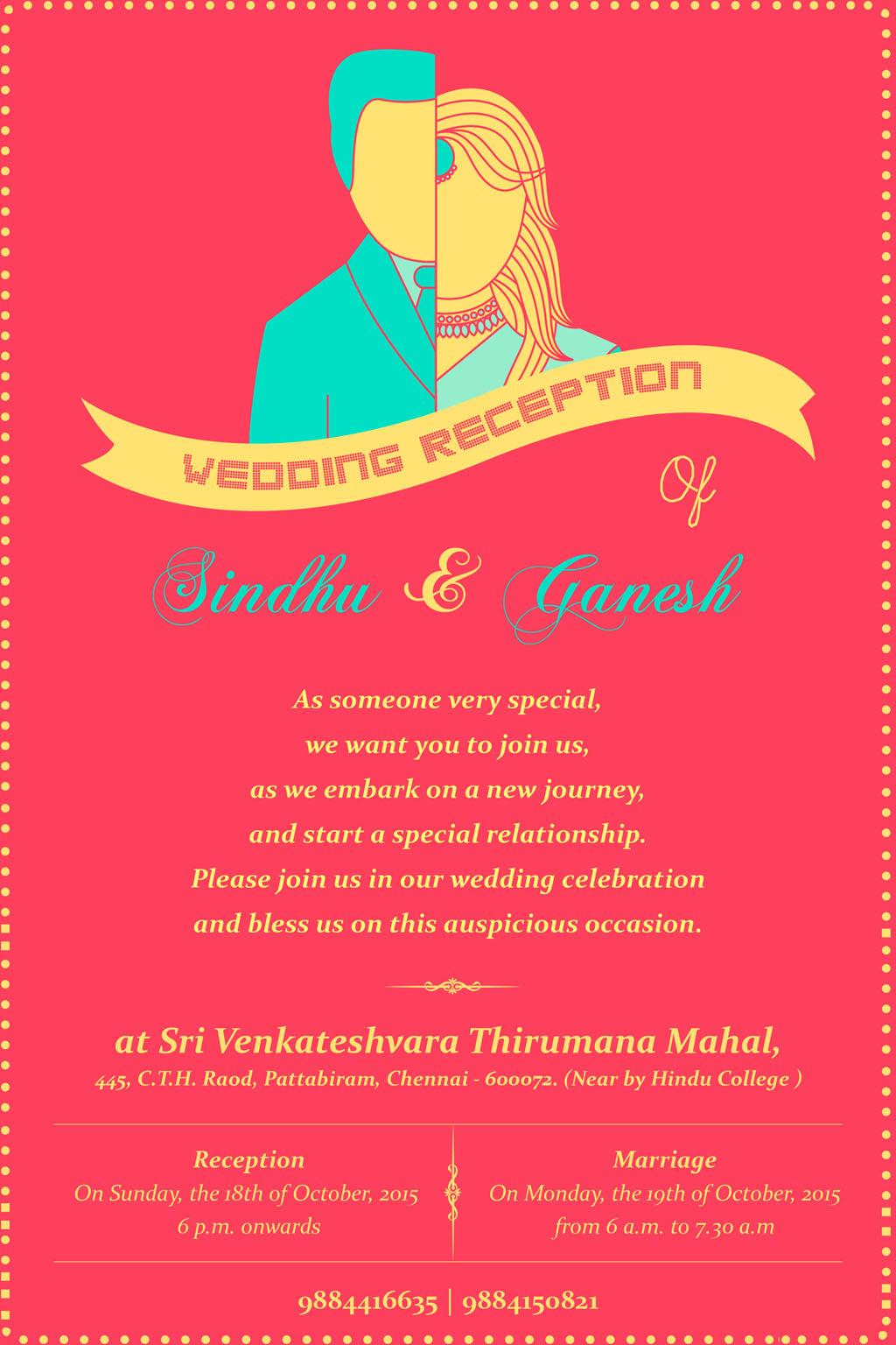 wedding reception invite on Behance