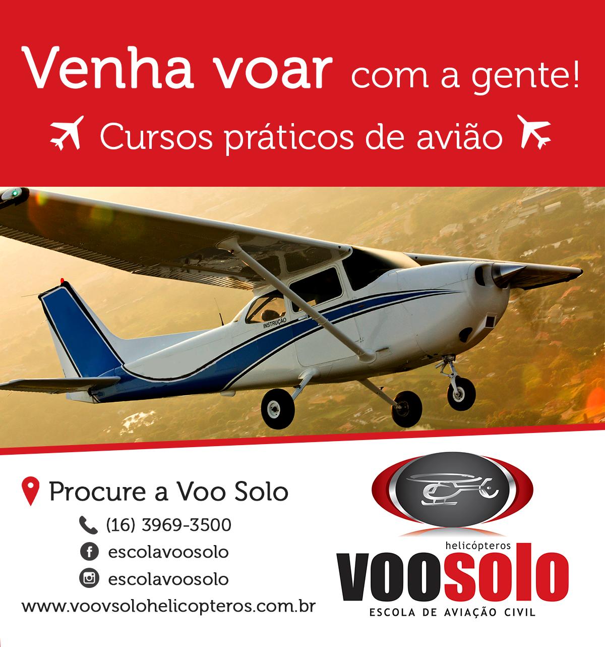 design gráfico Aviação social media