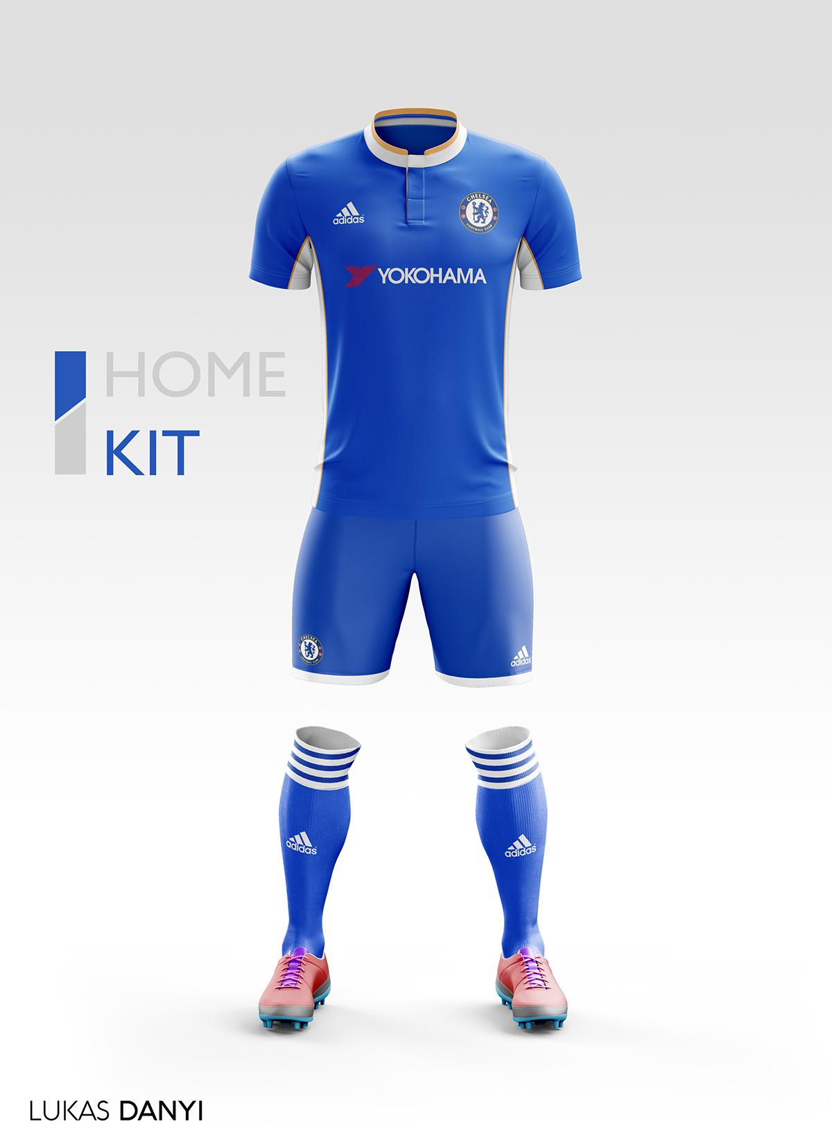 Chelsea FC Football Kit 17 18. on Behance ade77929f