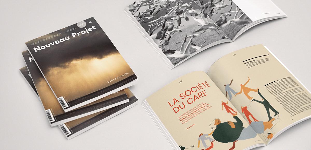 collective care collectivity editorial gouache ILLUSTRATION  magazine nouveau projet painting   self care
