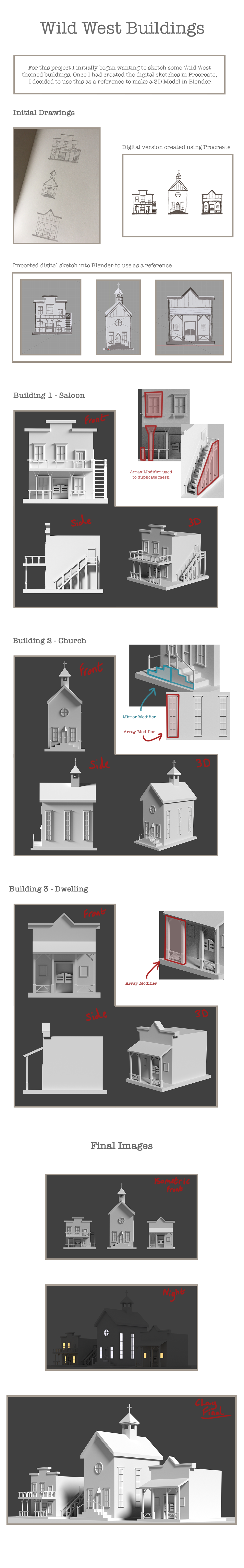 Wild West Buildings - 3D on Student Show