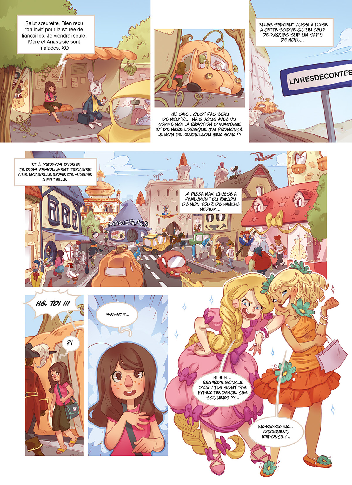 Comic Book cover fairy tale comic pages pages