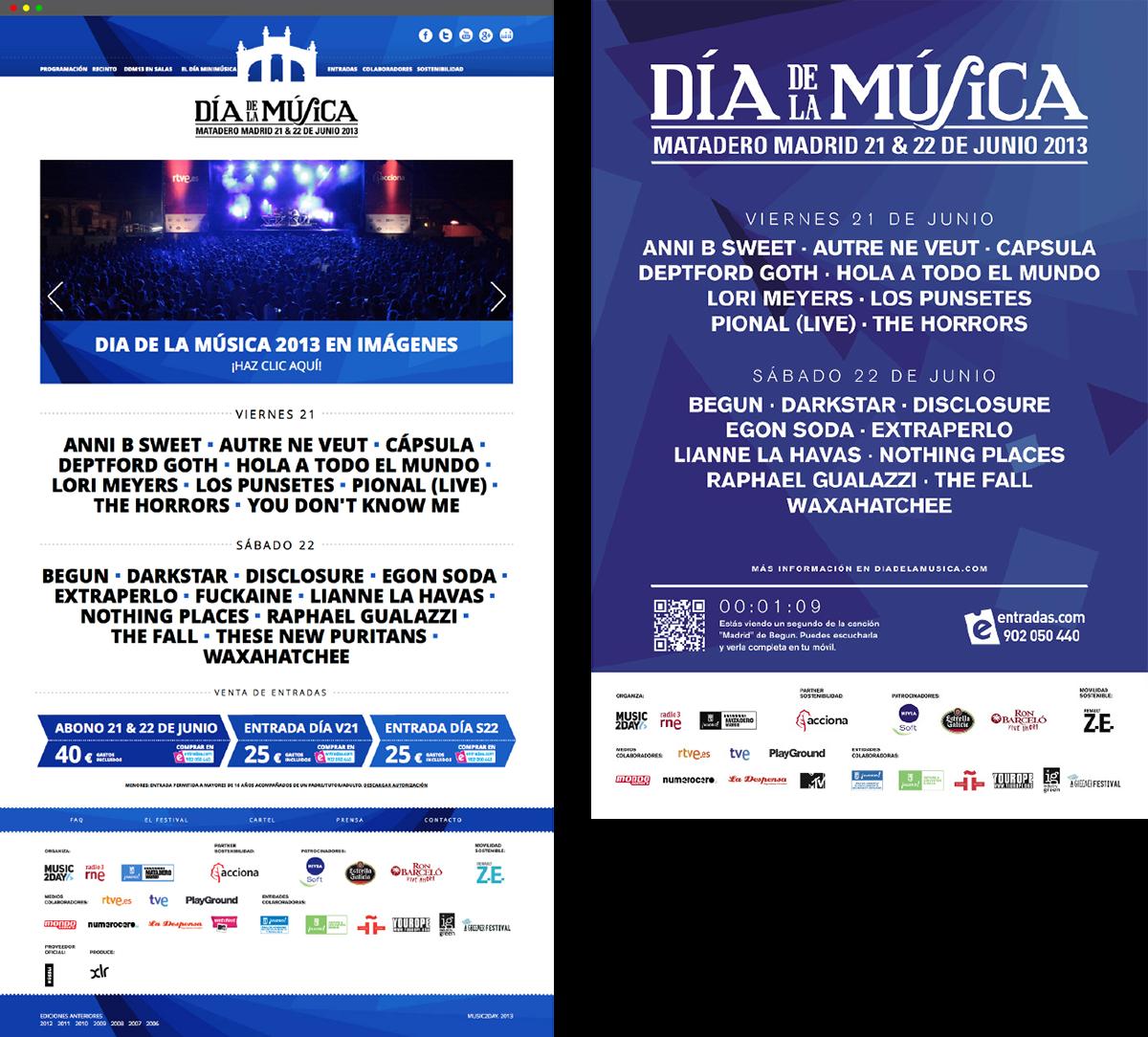 design Music Festival projection