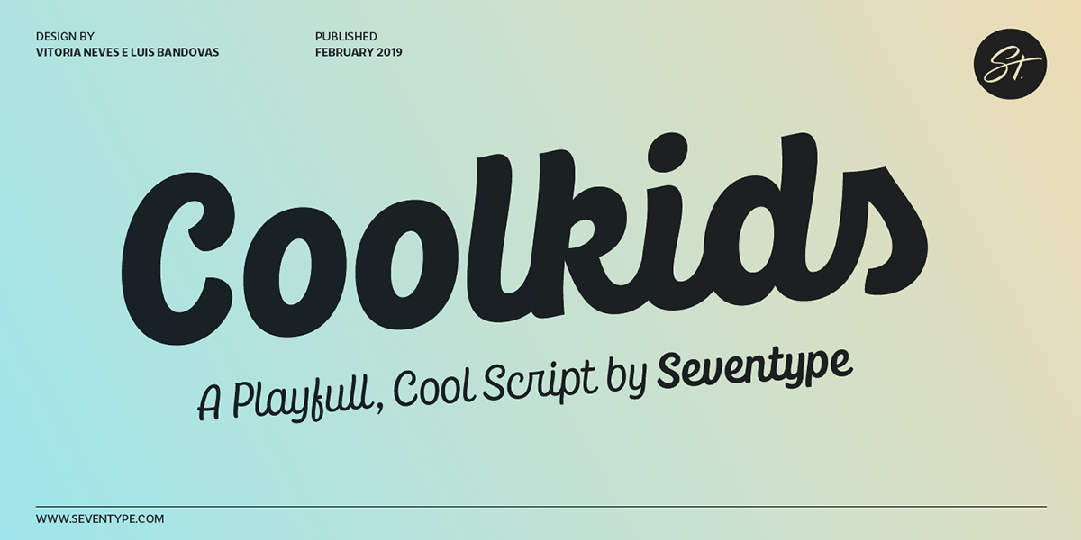 CoolKids Script Typeface on Pantone Canvas Gallery