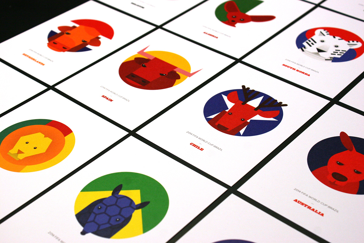 WorldCup animals Brazil postcards