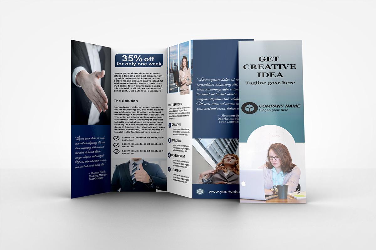 four fold brochure on behance