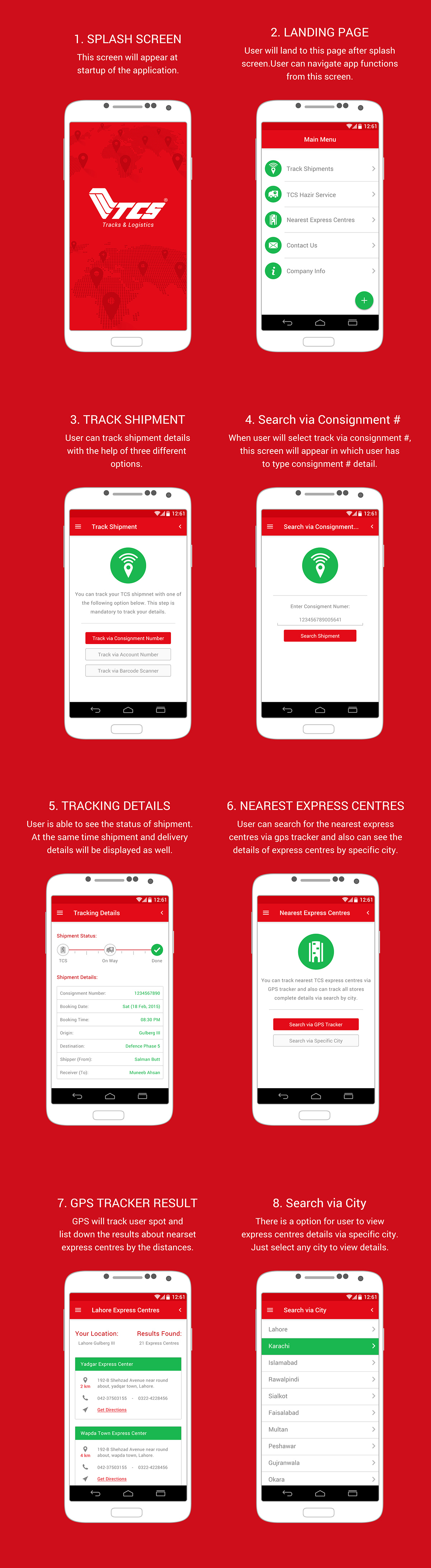 TCS Android App on Behance